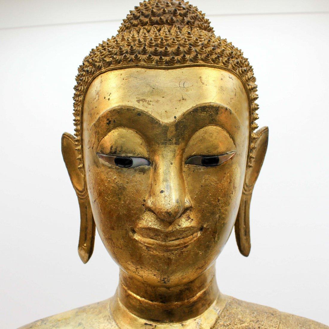 A Fine 19th Century Bronze Gilt Buddha in Abhaya Mudra - 10