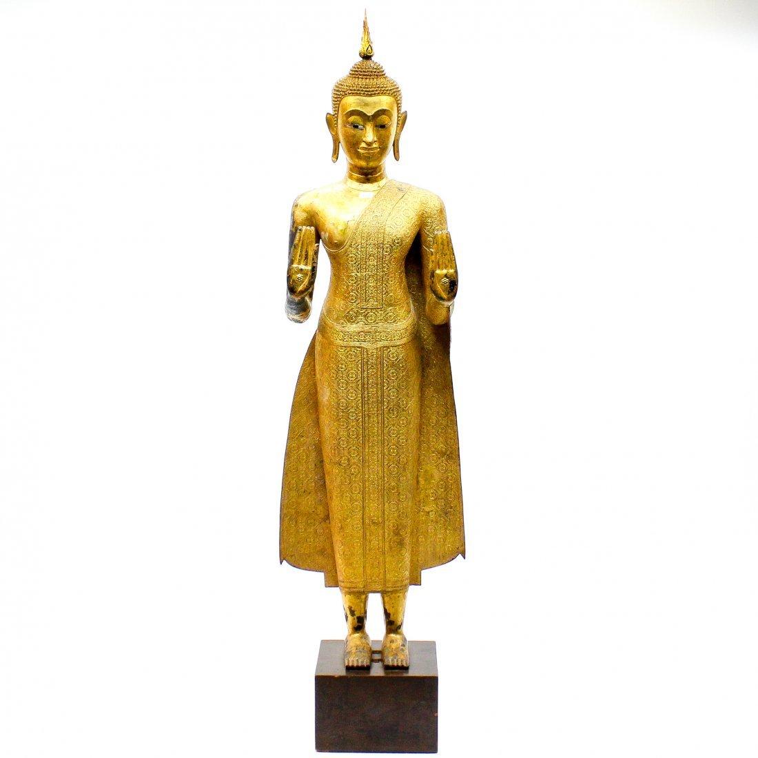 A Fine 19th Century Bronze Gilt Buddha in Abhaya Mudra
