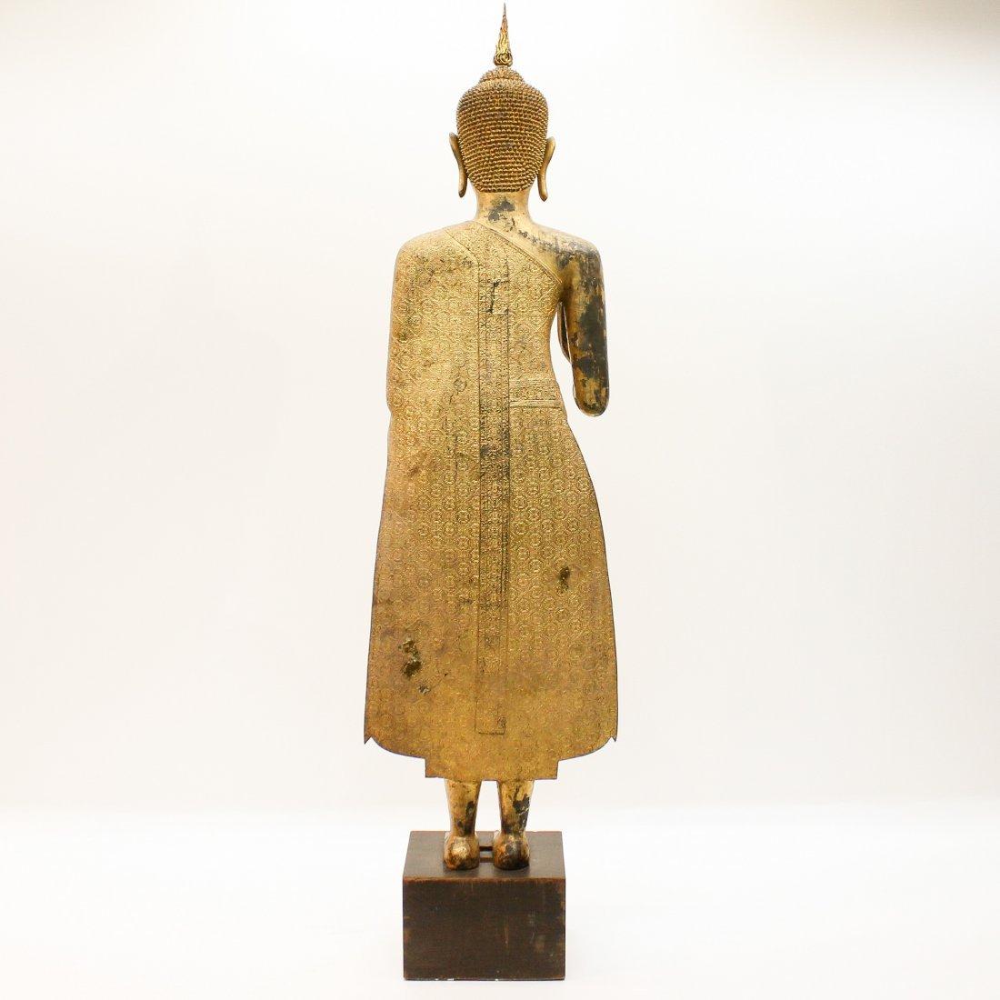 A Fine 19th Century Bronze Gilt Buddha in Abhaya Mudra - 3