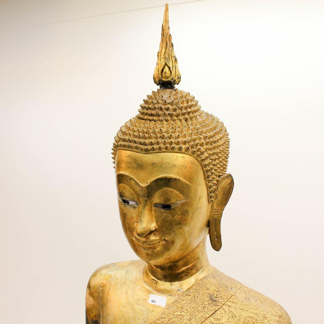A Fine 19th Century Bronze Gilt Buddha in Abhaya Mudra - 5