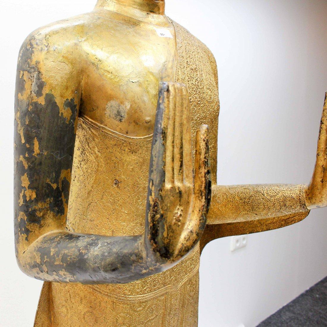 A Fine 19th Century Bronze Gilt Buddha in Abhaya Mudra - 8