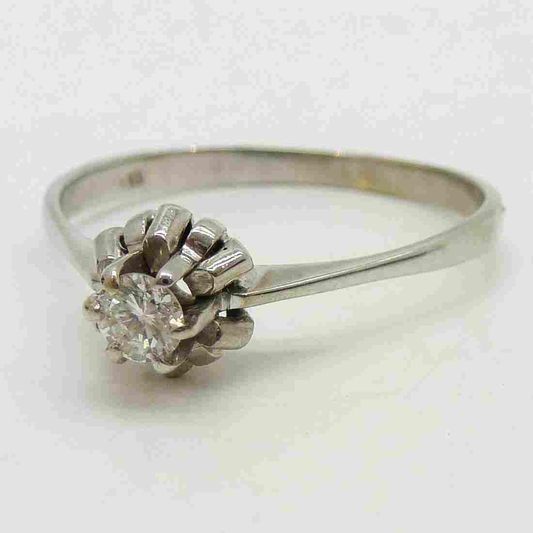 14KWG Ladies Diamond Solitaire Ring