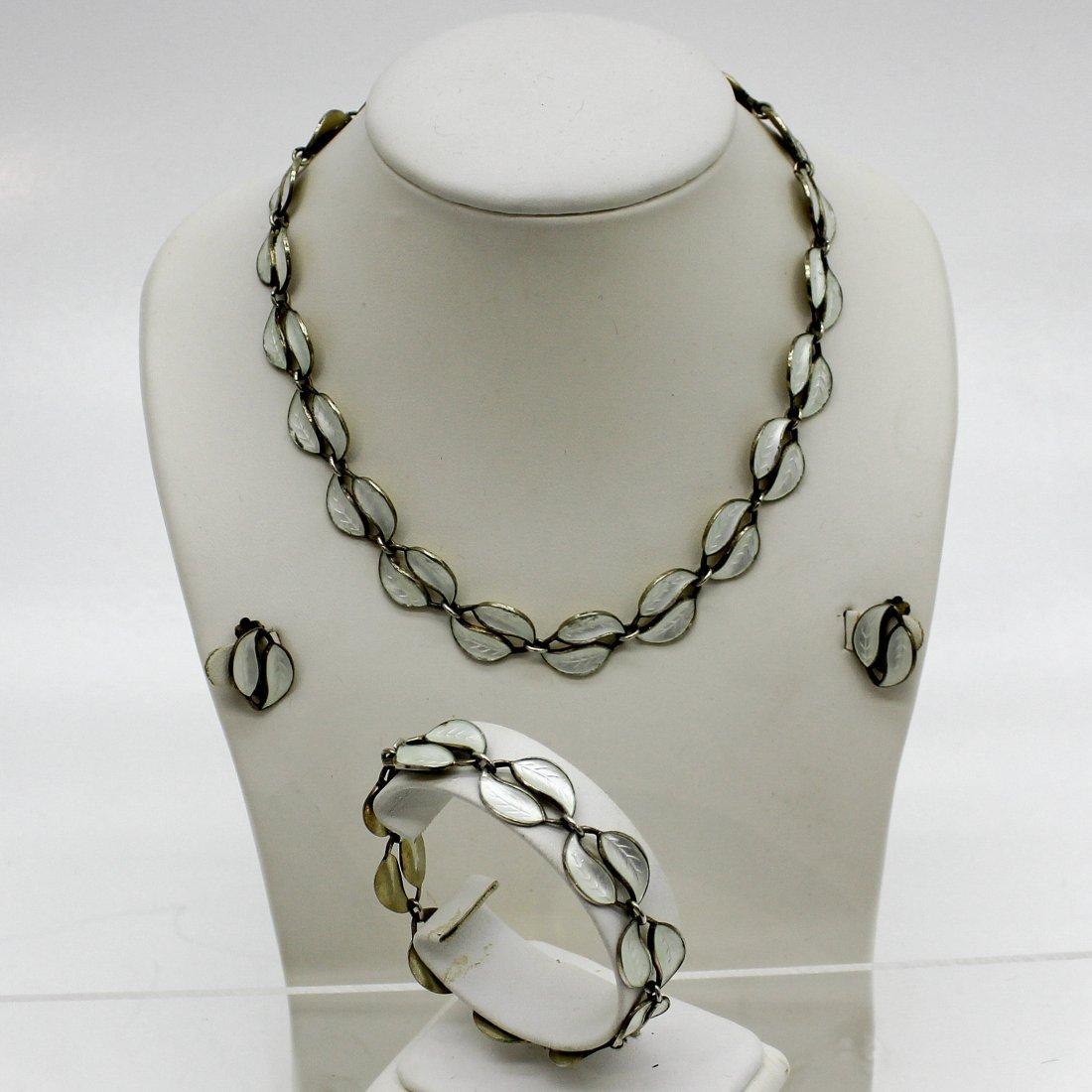 David Andersen Silver and Enamel Jewelry