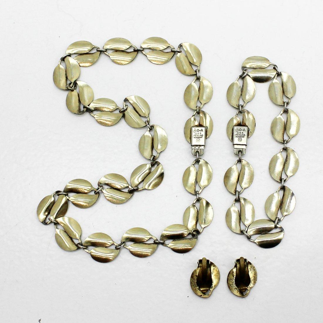 David Andersen Silver and Enamel Jewelry - 2