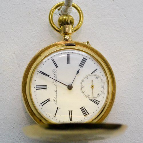 18KG INTERNATIONAL WATCH COMPANY POCKET WATCH