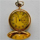 18KG MENS TAVANNES WATCH COMPANY POCKET WATCH