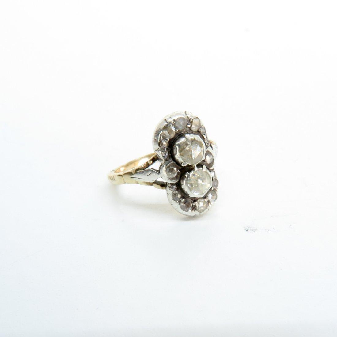 14KG Art Deco Diamond Ring