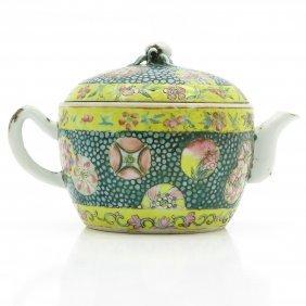 19th Century China Porcelain Teapot
