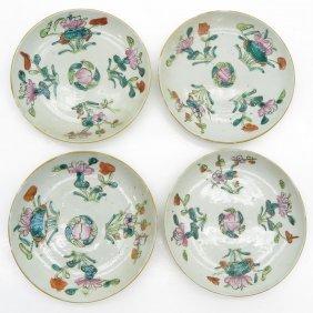 Lot Of 4 China Porcelain Plates