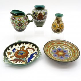 Lot Of 5 Pieces Of Dutch Pottery