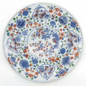 18th Century China Porcelain Ducai Plate