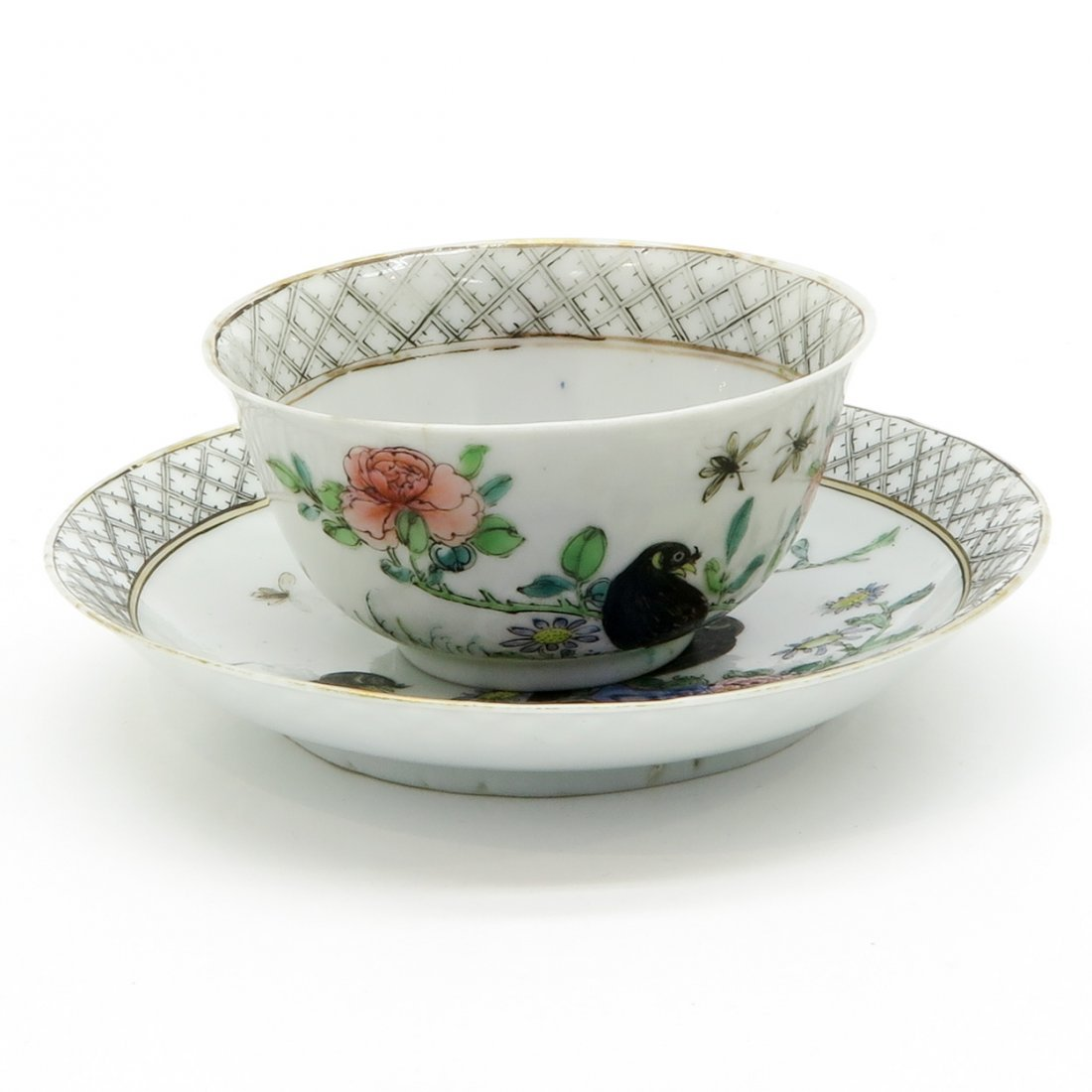 Encre de Chine Cup and Saucer