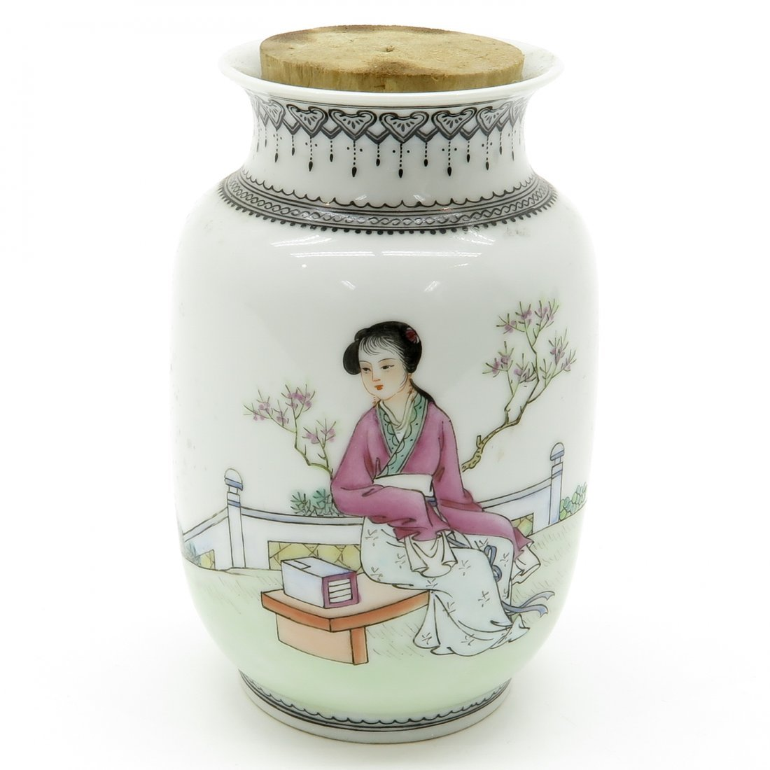 China Porcelain Tea Caddy
