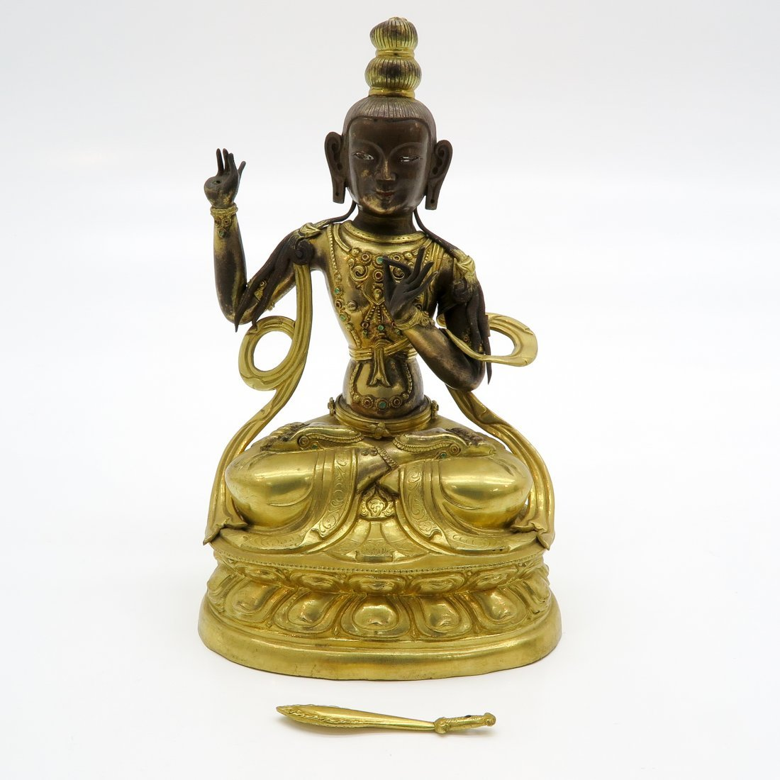 19th Century Bronze Buddha Sculpture