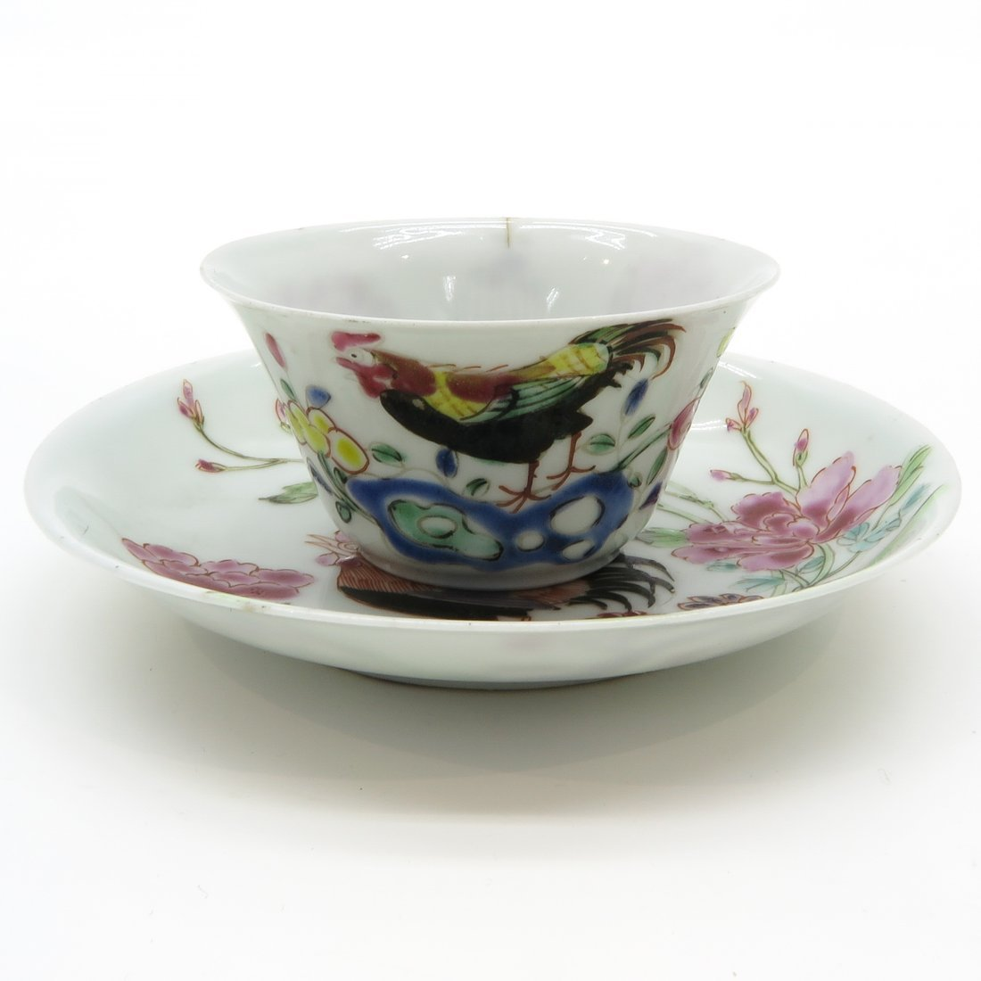18th Century China Porcelain Cup & Saucer