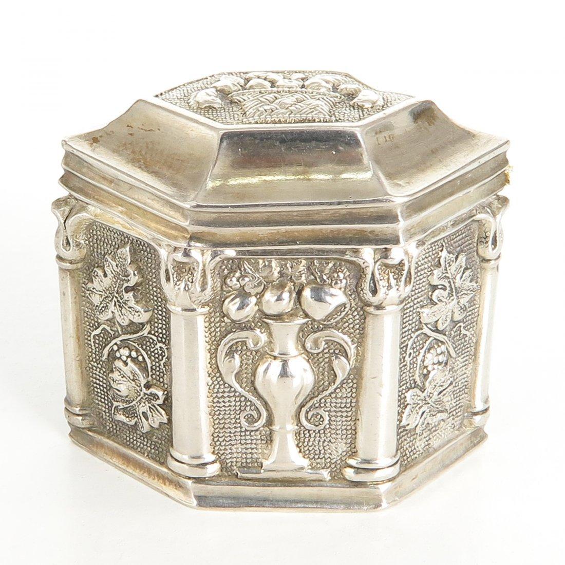 Dutch Silver Loderein Box or Scent Box