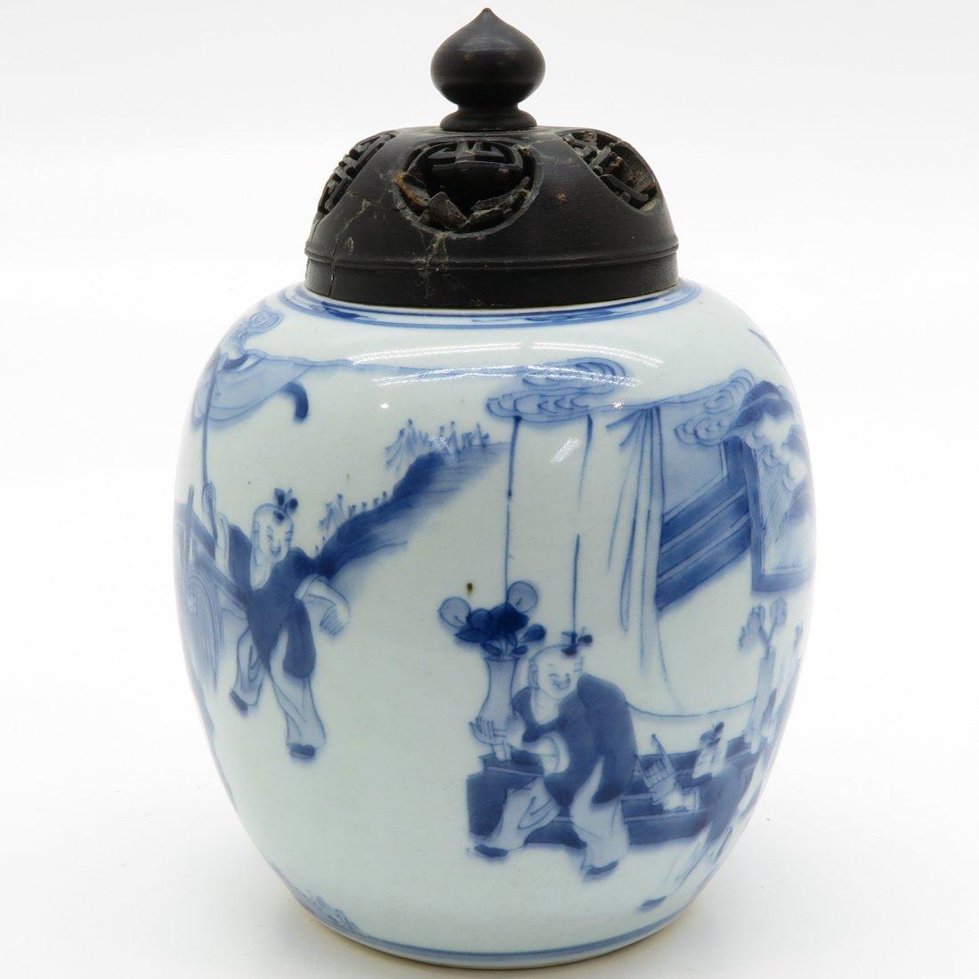 China Porcelain Ginger Jar - 2