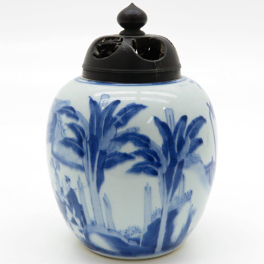 China Porcelain Ginger Jar - 3
