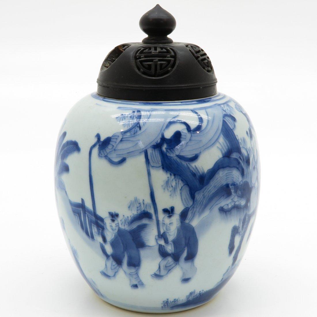 China Porcelain Ginger Jar - 4