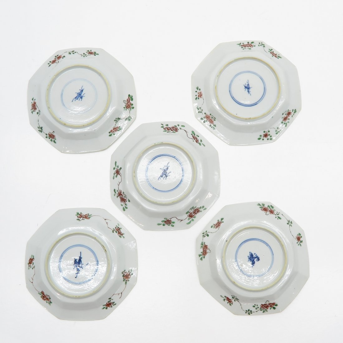 Lot of 5 Famille Verte China Porcelain Plates - 2