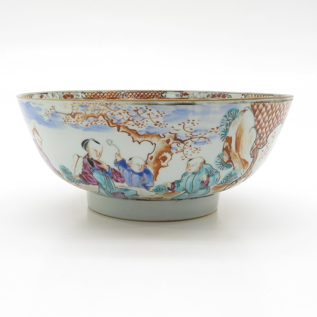 China Porcelain Mandarin Decor Bowl - 2