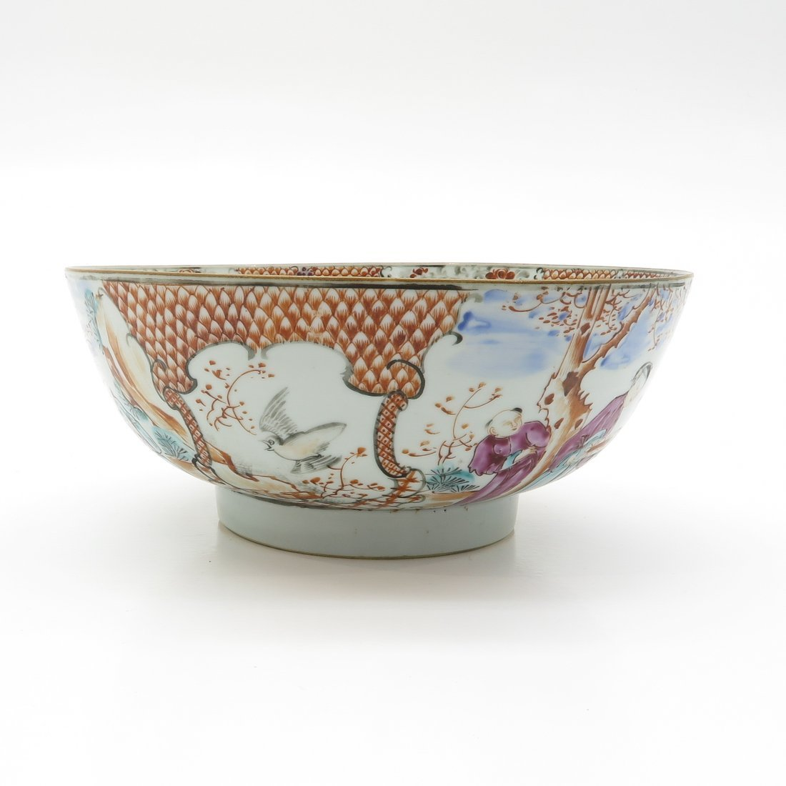 China Porcelain Mandarin Decor Bowl - 3