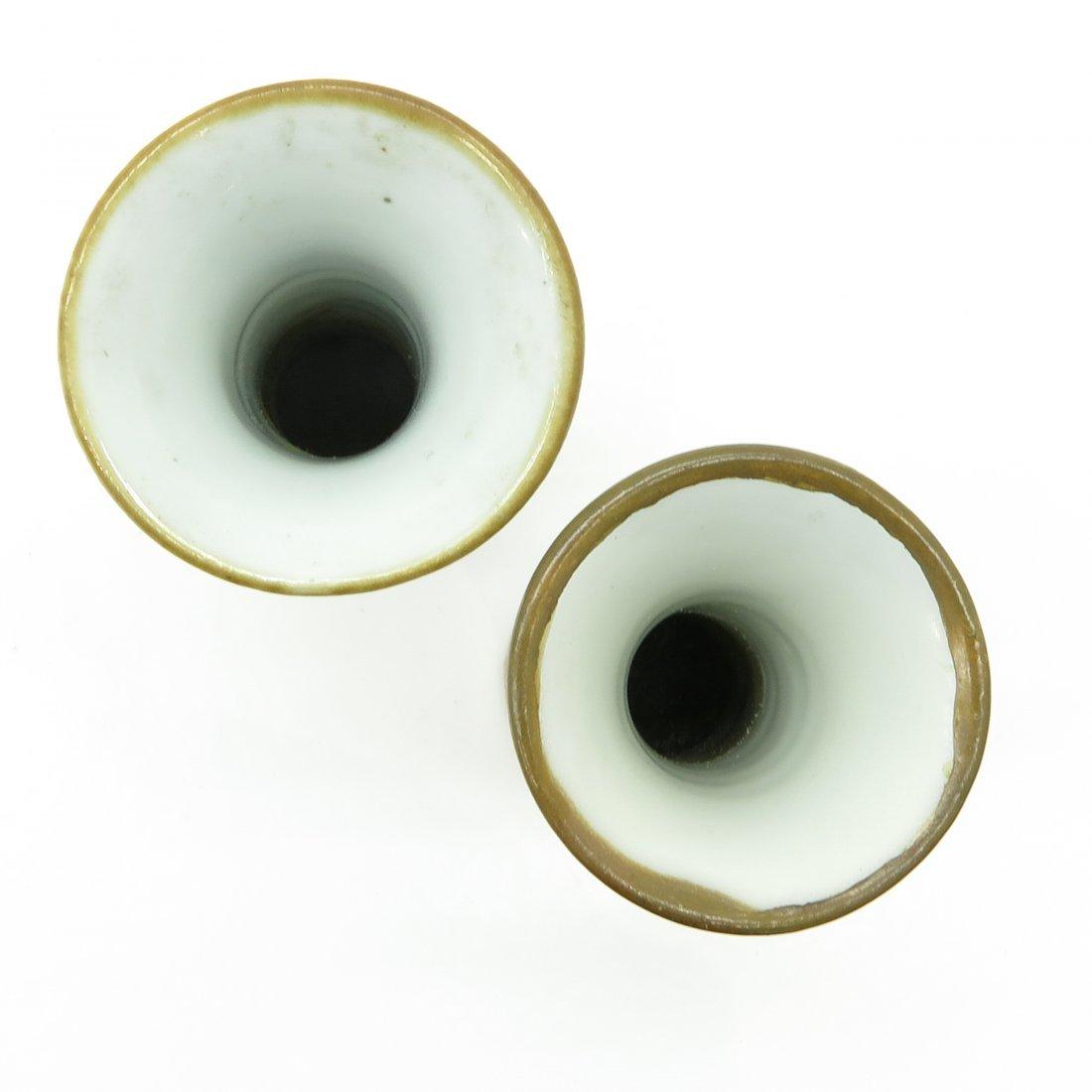 Lot of 2 China Porcelain Miniature Vases - 5