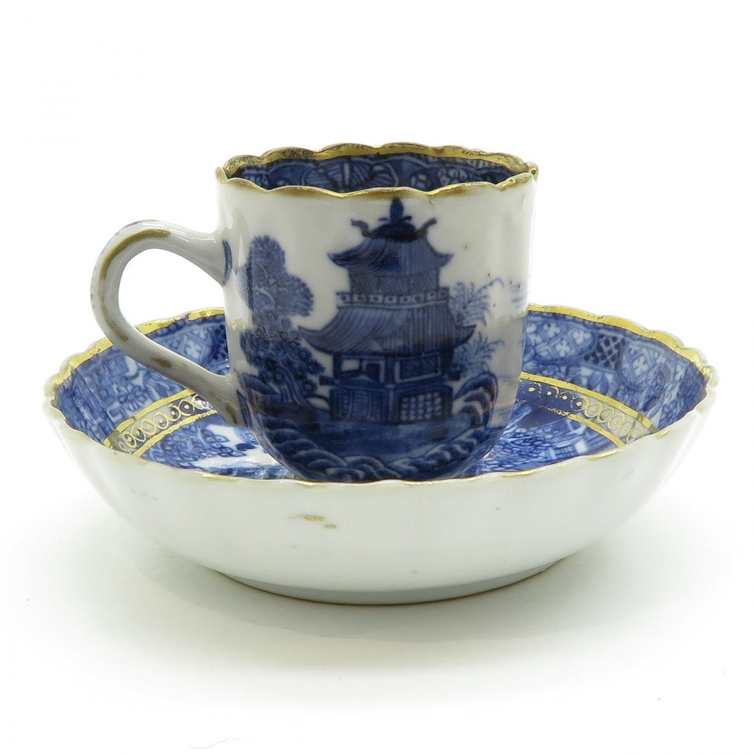 China Porcelain Cup and Saucer Circa 1800 - 3