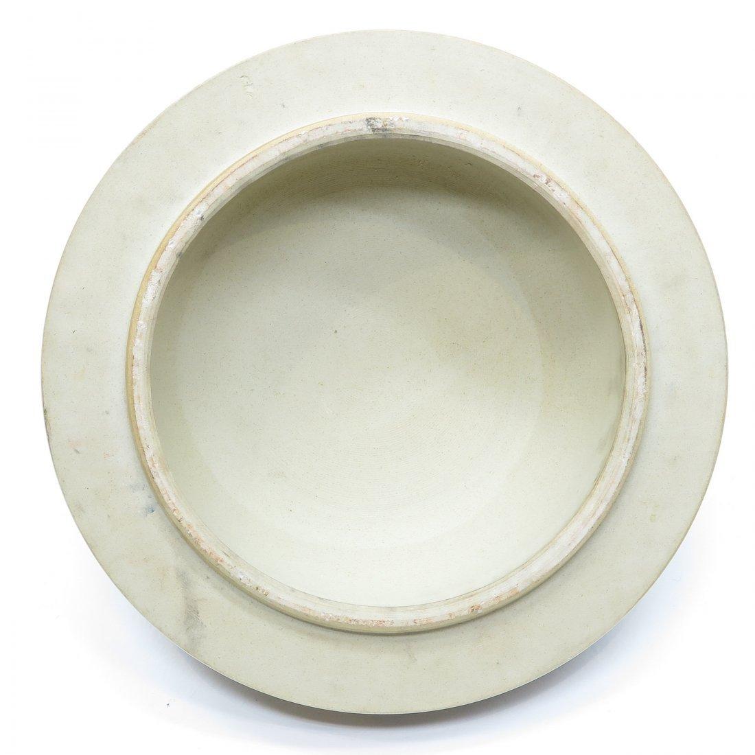China Porcelain Famille Noir Lidded Vase - 8