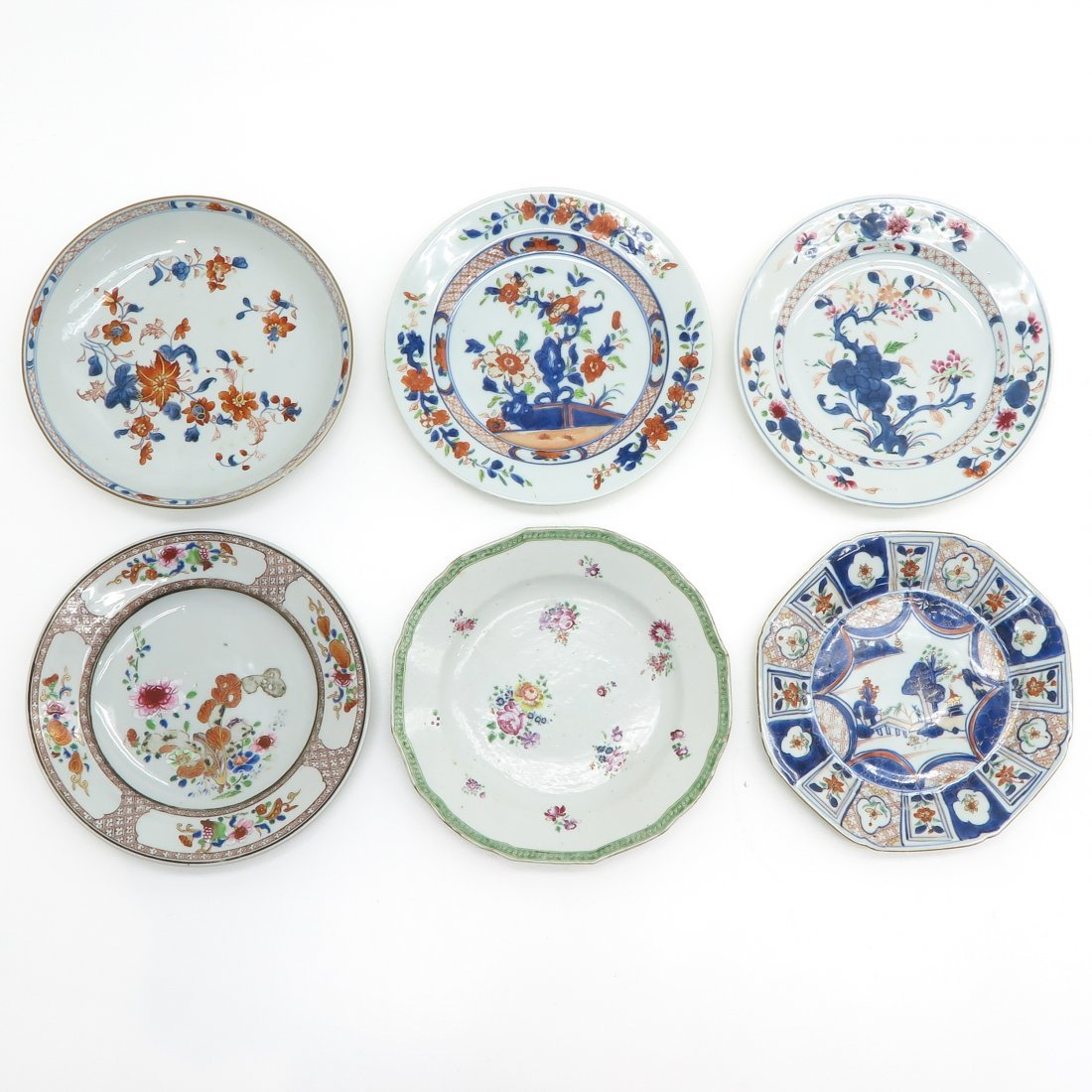 Lot of 6 18th / 19th Century China Porcelain Plates