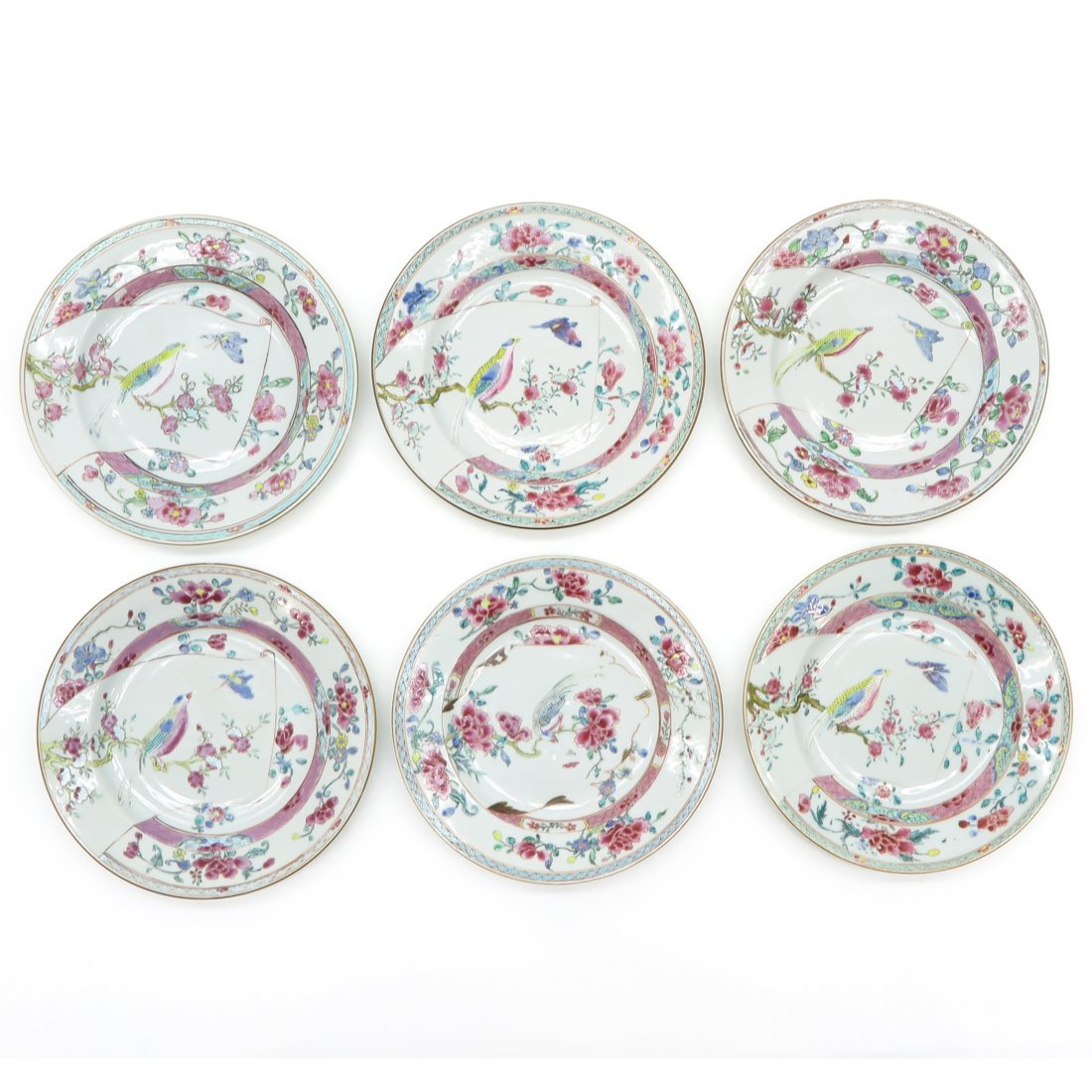 Lot of 6 18th Century China Porcelain Plates
