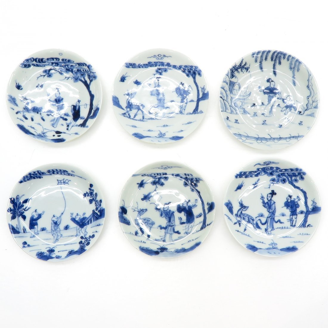 Lot of 6 18th Century China Porcelain Saucers