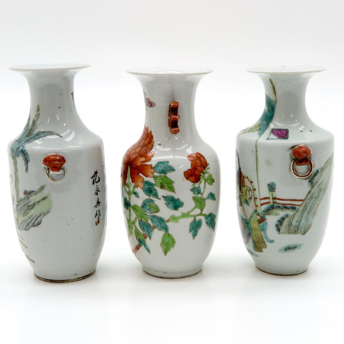 Lot of 3 Republic Period Vases - 2