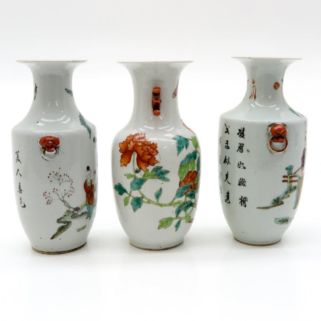 Lot of 3 Republic Period Vases - 4