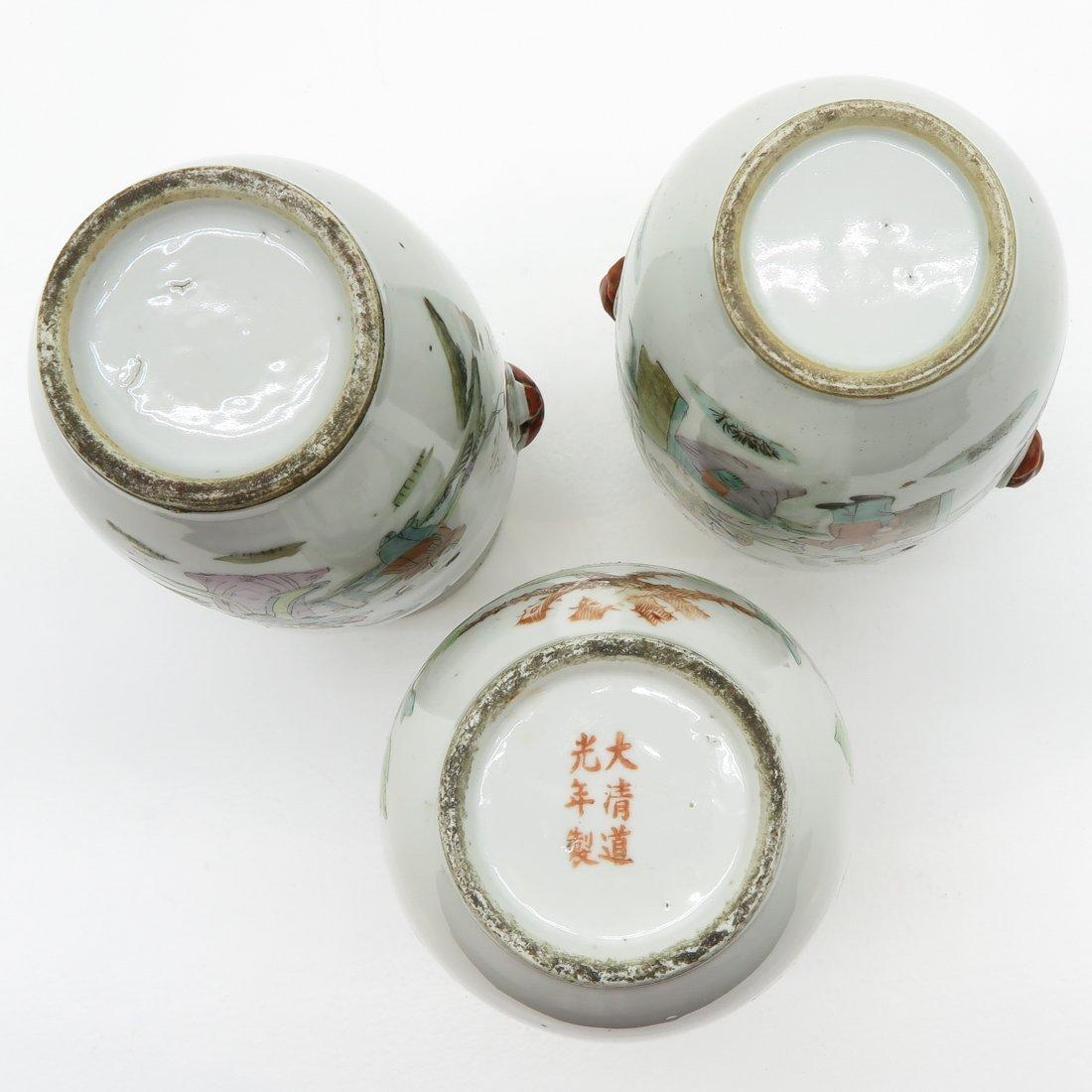 Lot of 3 Republic Period Vases - 6