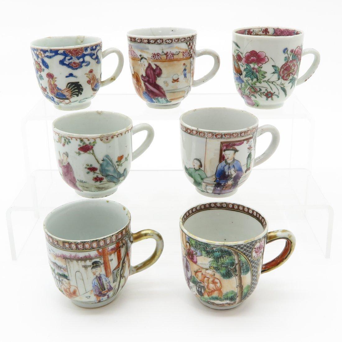 Lot of Mandarin Decor China Porcelain Cups