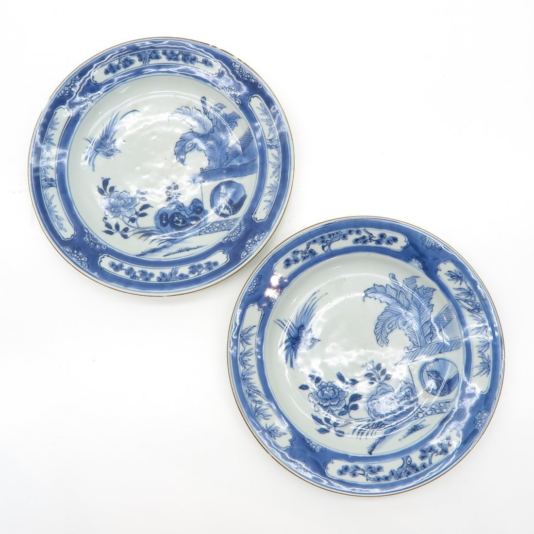 Lot of 2 18th Century China Porcelain Plates