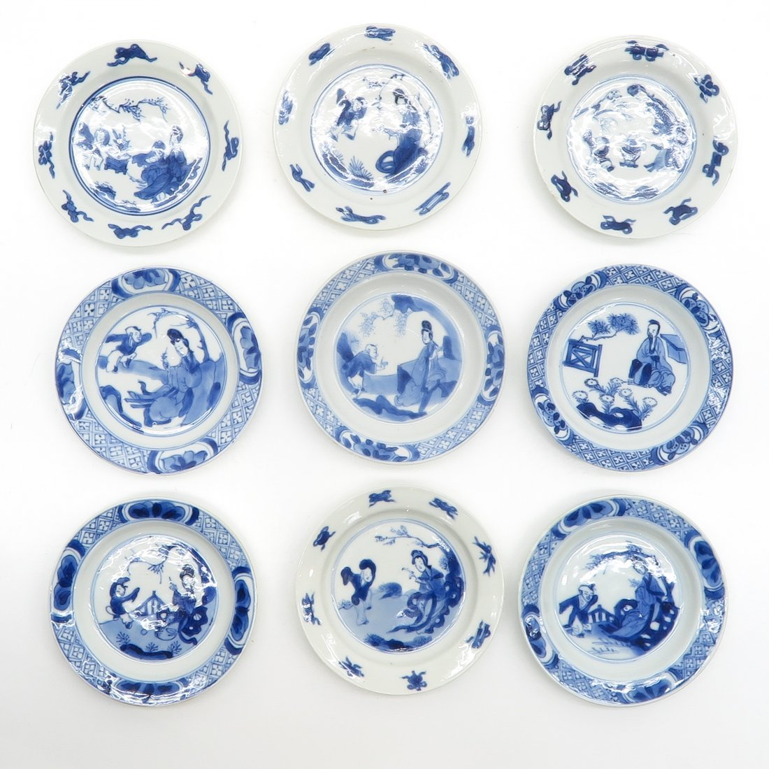 Lot of 18th Century China Porcelain Saucers
