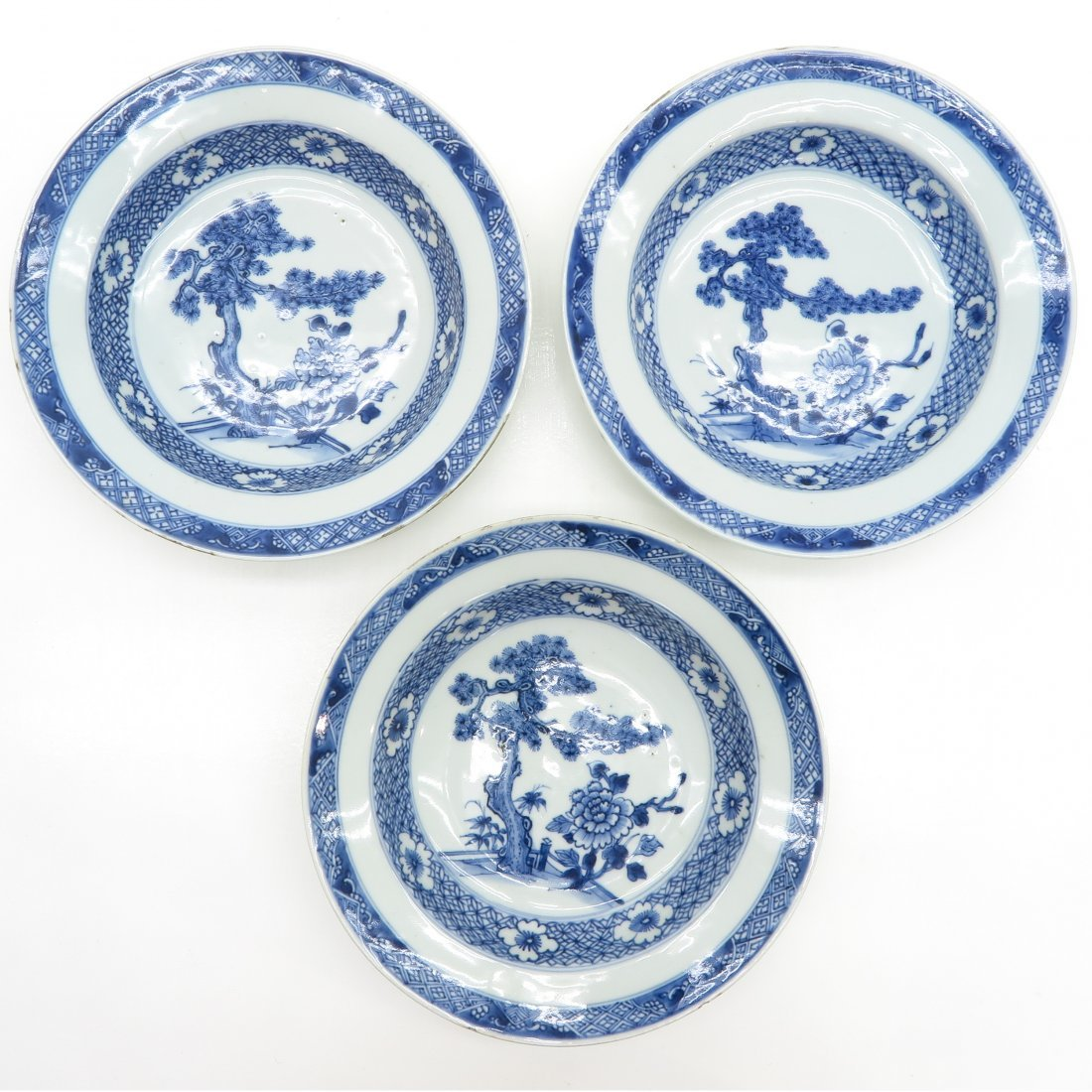 Lot of 3 18th Century China Porcelain Plates