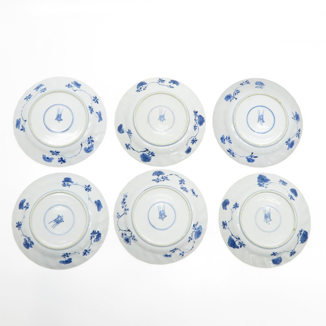 Lot of 6 Kangxi Period Saucers - 2