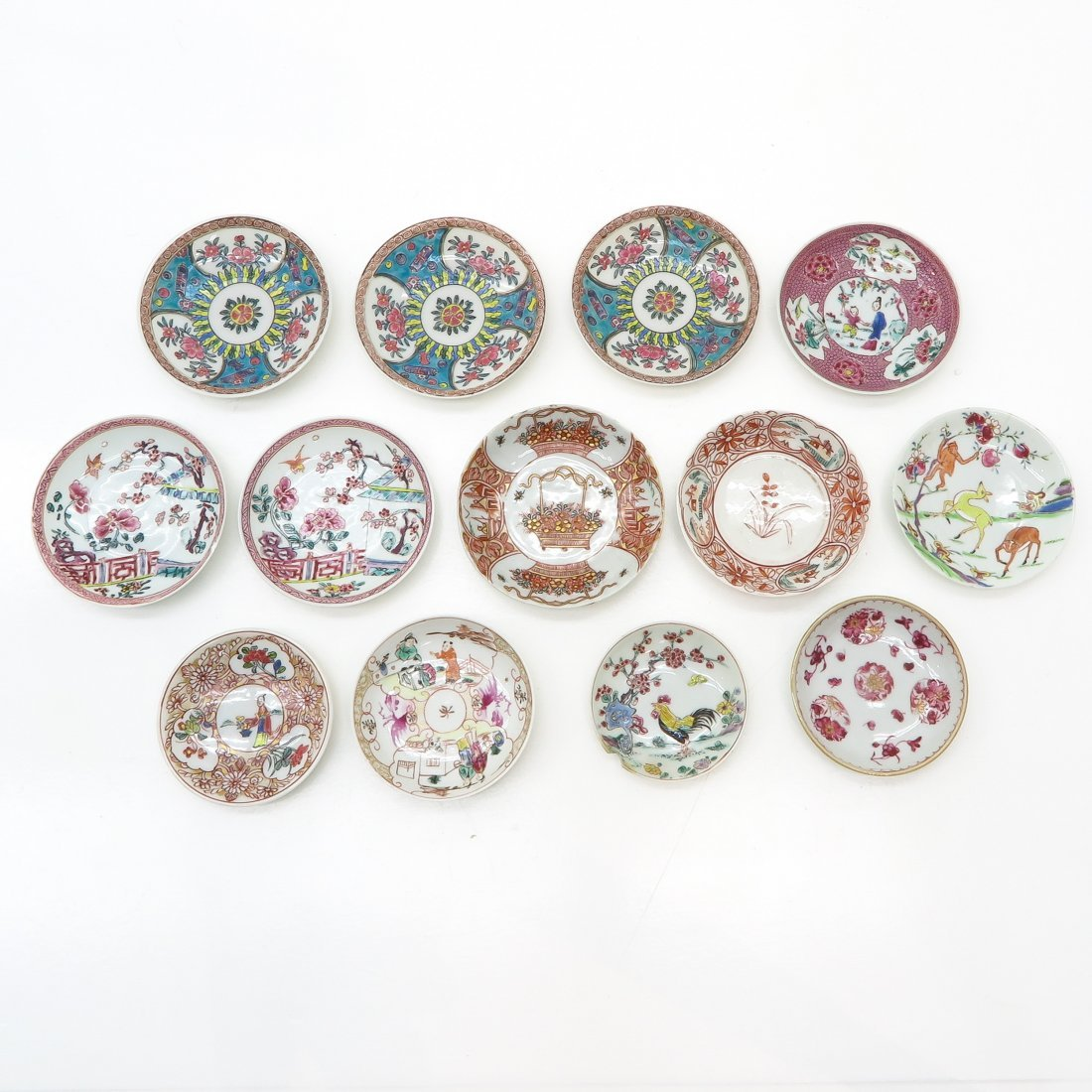 Diverse Lot of China Porcelain Saucers