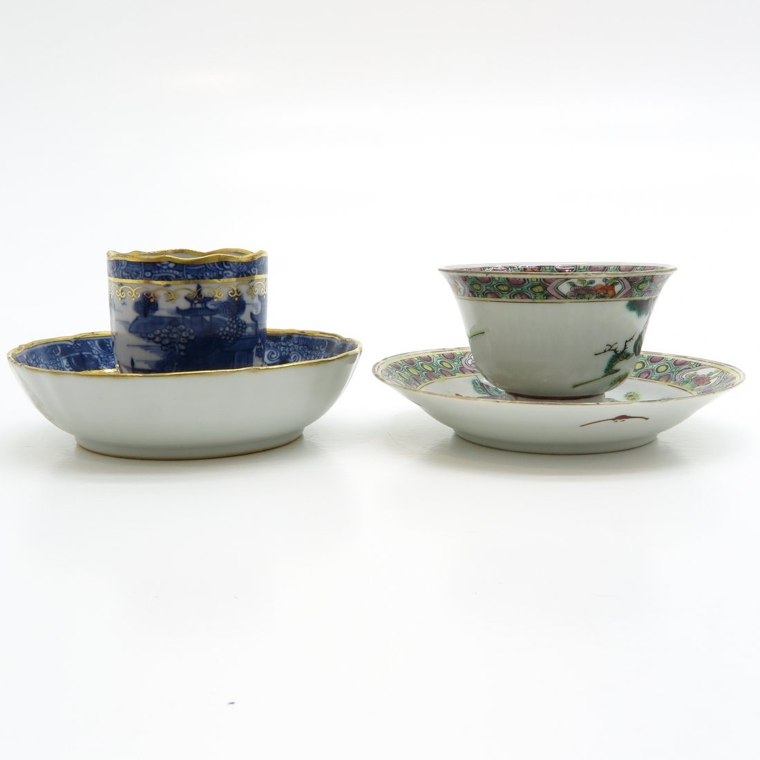 Lot of 18th Century China Porcelain Cups and Saucers - 4
