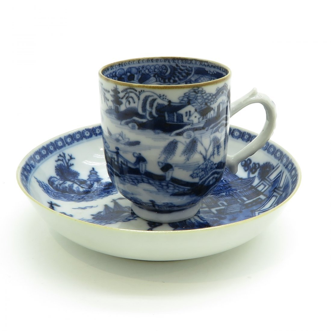 China Porcelain Cup and Saucer Circa 1800