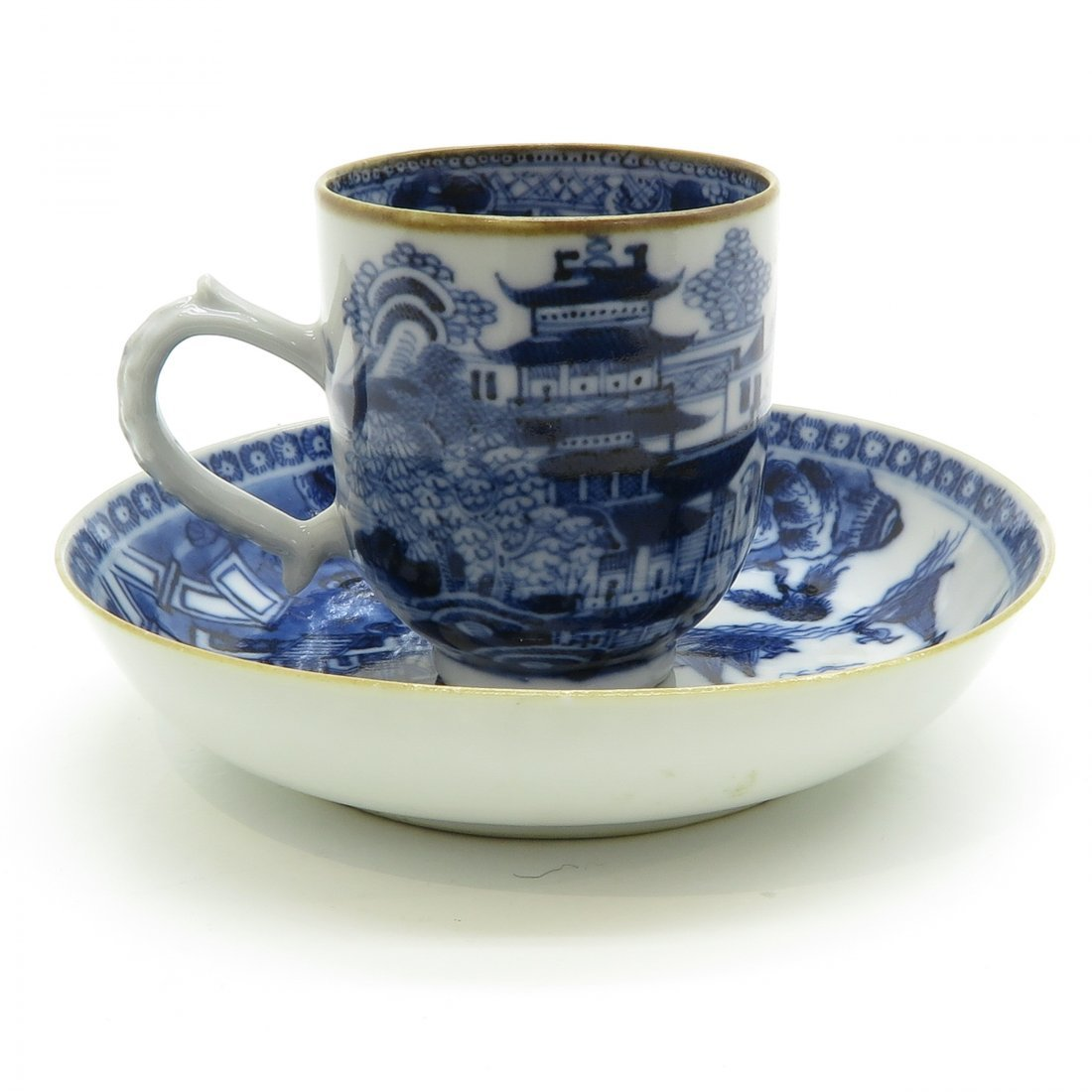 China Porcelain Cup and Saucer Circa 1800 - 3
