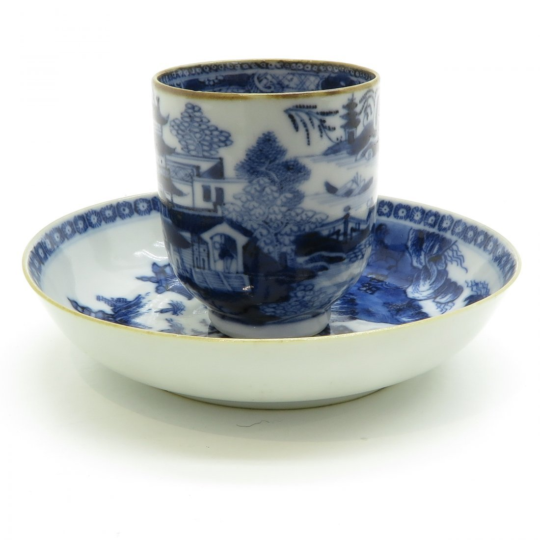 China Porcelain Cup and Saucer Circa 1800 - 4