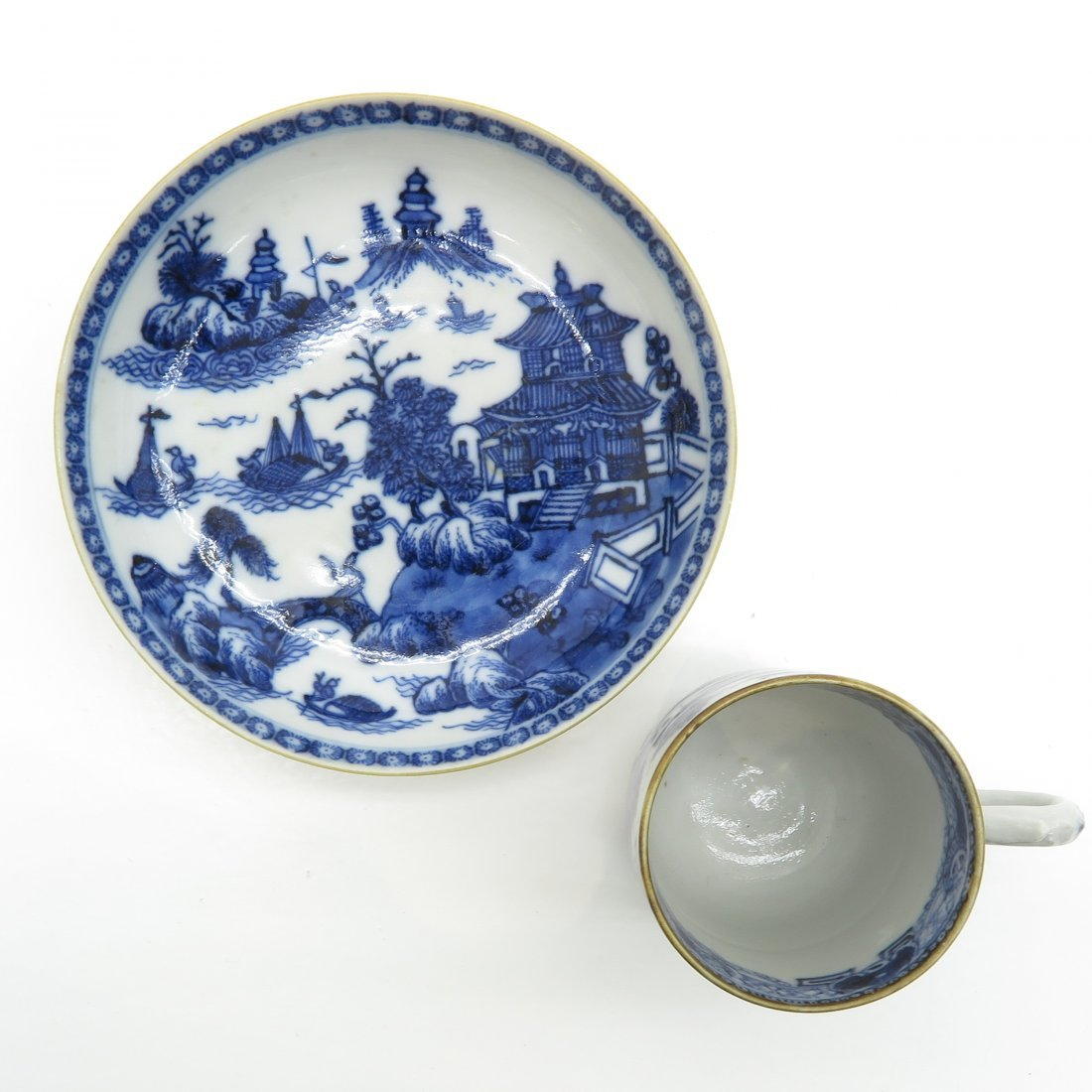 China Porcelain Cup and Saucer Circa 1800 - 5