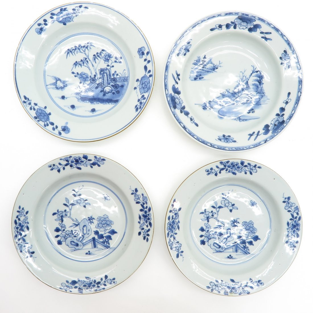 Lot of 4 18th Century China Porcelain Plates