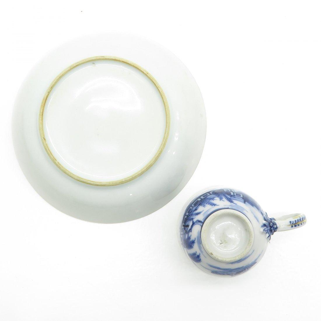 China Porcelain Cup and Saucer Circa 1800 - 6
