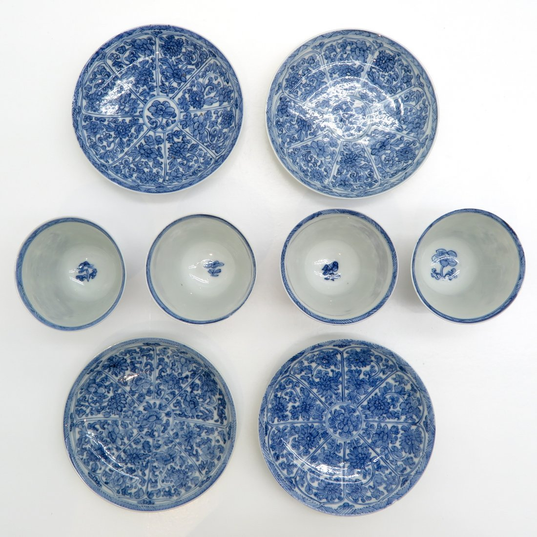 China Porcelain Cups and Saucers - 2