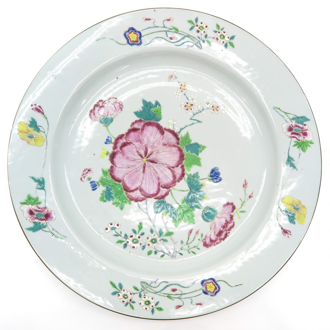 18th / 19th Century Famille Rose China Porcelain Plate